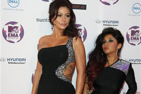 JWoww (L) and Snooki of Jersey Shore  (Reuters)