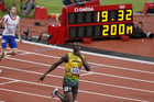 Usain Bolt winning the 200m final (Reuters)