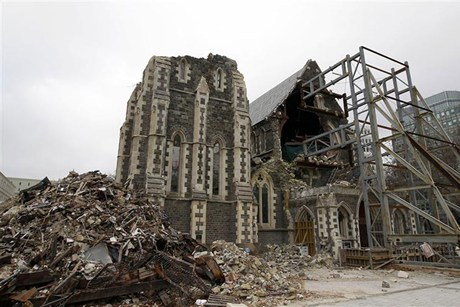 ChristChurch Cathedral is being partially demolished by the Anglican Church  (Reuters file)