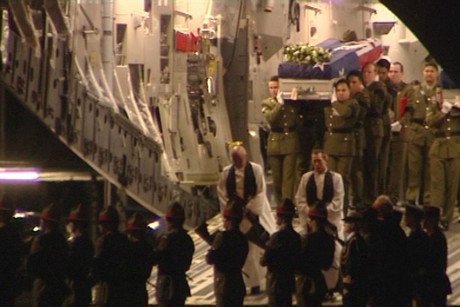 The bodies of the fallen soldiers returned to New Zealand today