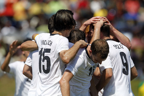 All Whites celebrate Shane Smeltz's goal at the OFC Nations Cup 2012 (Photosport file)