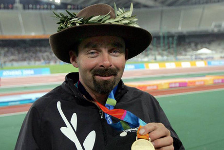 Peter Martin won gold in the F52 javelin at the Athens 2004 Paralympic games (Photo: Paralympics NZ)