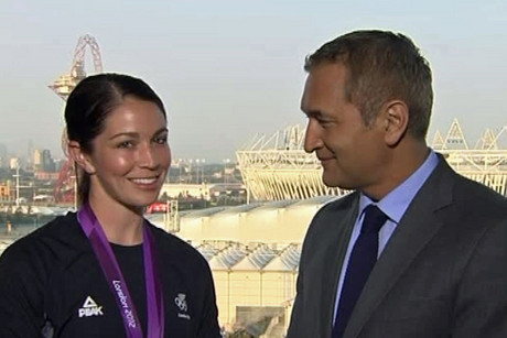 BMX silver medallist Sarah Walker in London