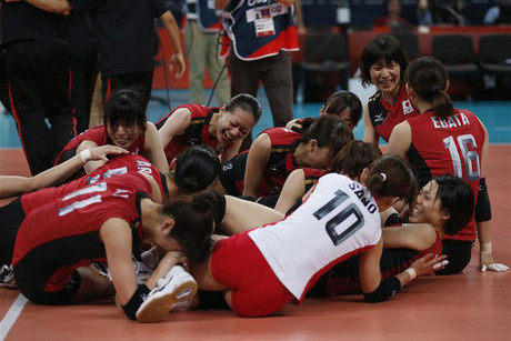 The Japan volleyball team (Reuters)