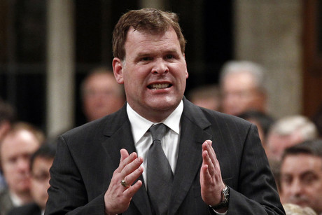 Canada's Foreign Minister Baird speaks in the House of Commons in Ottawa (Reuters)