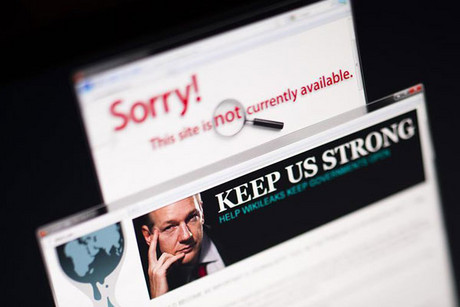 WikiLeaks' website has struggled to stay online for a week