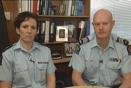 Allyson Ealam and Russell Glue of the Greymouth Police