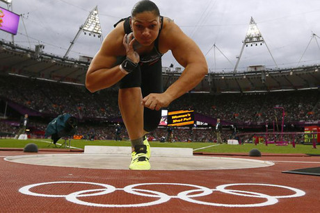 Valerie Adams in action at the London 2012 Olympics (Reuters)