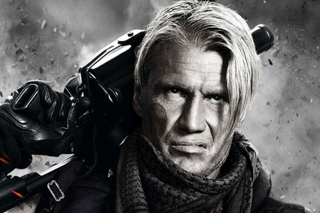 Dolph Lundgren in a promotional still for The Expendables 2