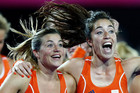 Dutch hockey gold medallist Kim Lammers, left, was one of many singing the praises of the 2012 Games (Reuters)