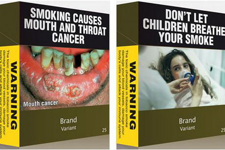 Proposed plain packaging for cigarettes (Reuters file)