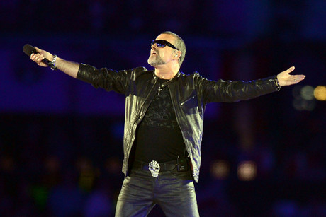 George Michael performs at the 2012 London Olympic closing ceremony (AAP)