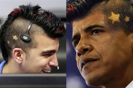 Bobak Ferdowsi and Obama, with Ferdowsi's haircut (Reuters / twitter.com/darth)