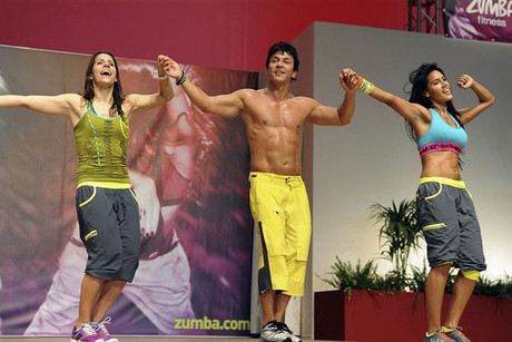 Alberto Perez, founder of Zumba Fitness, performs on stage (Reuters file)