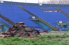 The QEII stadium was damaged in the February 2011 earthquake