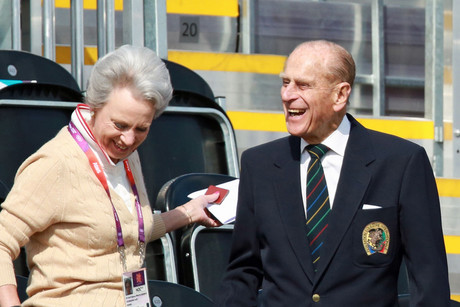 Britain's Prince Philip (R) seen during the London Olympic Games (Reuters/Olivia Harris)