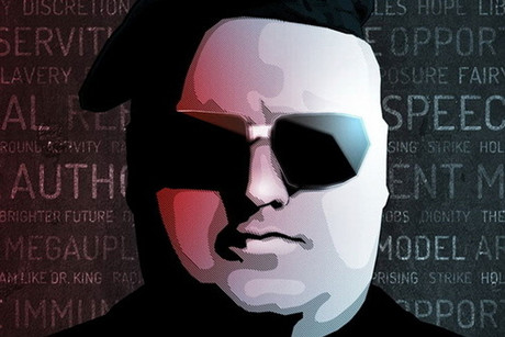 Kim Dotcom as he appears on his Twitter account