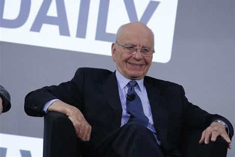 Rupert Murdoch at the launch of The Daily (Reuters)