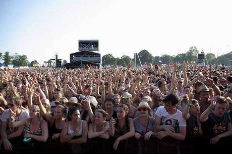 Crowds at the V Festival (AAP)
