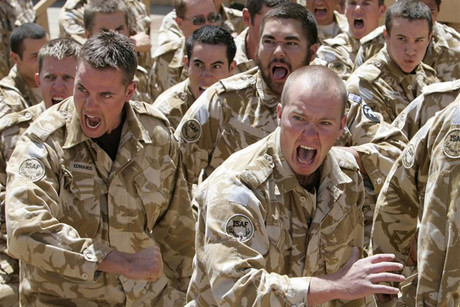 New Zealand soldiers perform a haka in Bamiyan (Reuters)