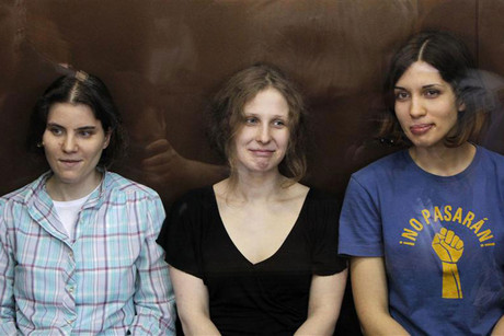 Members of the female punk band 'Pussy Riot' (R-L) Nadezhda Tolokonnikova, Maria Alyokhina and Yekaterina Samutsevich (Reuters)