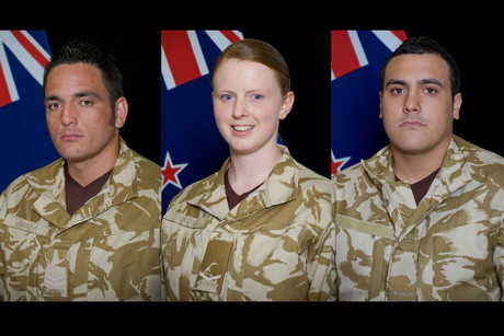 Corporal Luke Tamatea, Lance Corporal Jacinda Baker and Private Richard Harris who died in an attack on a Provincial Reconstruction Team convoy (AAP)