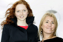 Charlie Brown (right) with model Lily Cole (AAP)