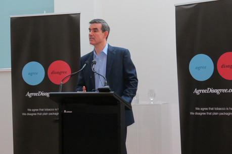 BATNZ general manager Steve Rush launches the campaign in Auckland (Photo: Imogen Crispe)