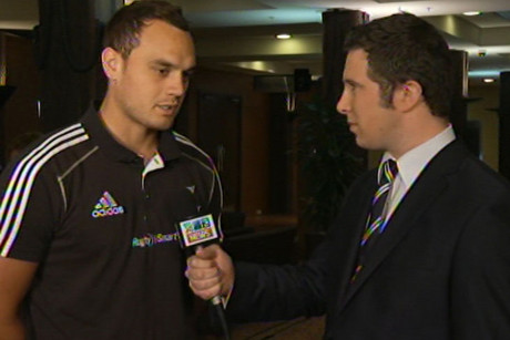 Israel Dagg, left, with Sam Ackerman - no complacency in All Blacks' camp