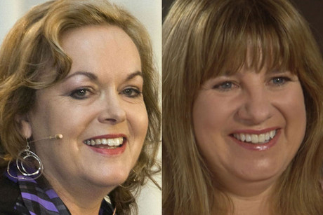Judith Collins and Bronwyn Pullar