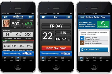 The free asthma iPhone app can help people monitor their health (Asthma NZ)