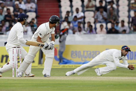 BlackCaps' captain Ross Taylor is caught by Virat Kohli (Reuters)