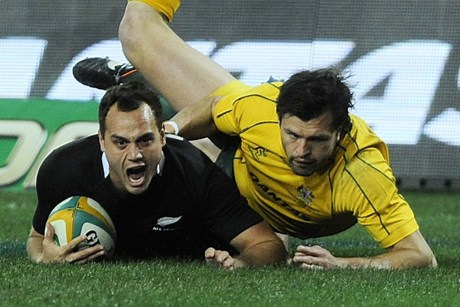 Israel Dagg scoring the opening try last weekend