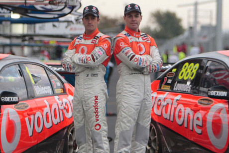 Holden pair Craig Lowndes and Jamie Whincup (file pic)