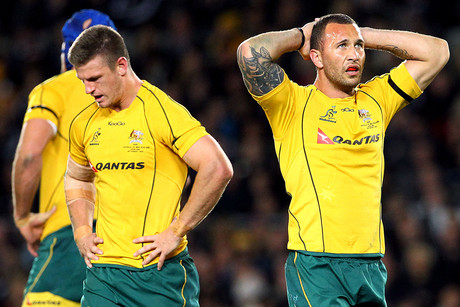 Wallaby woes... shut out and thrashed by the All Blacks at Eden Park (Photosport)