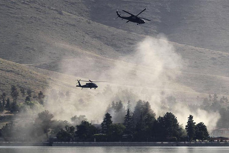 NATO helicopters on patrol in Afghanistan  (Reuters)