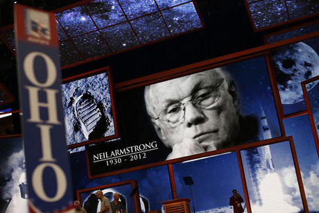 A tribute to Neil Armstrong at the Republican National Convention (Reuters)