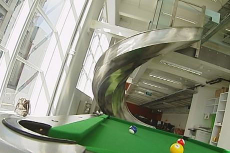 Not every office can boast to have a slide