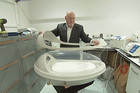 Sir Ray Avery with his affordable incubator