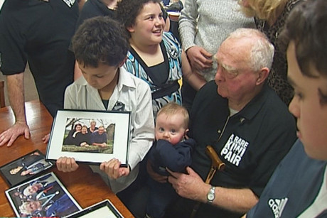 Eric Murray's family back in New Zealand were cheering him on tonight