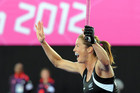 New Zealand's Krystal Forgesson celebrates a goal during against USA (Photosport)