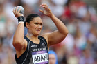 Valerie Adams gets ready to throw the shotput (Photosport)
