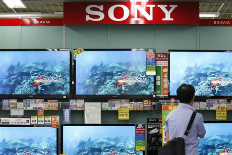 Sony TVs on display in Tokyo (Reuters)