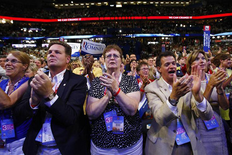 Republican party supporters at the National Convention in Tampa, Florida (Reuters file)