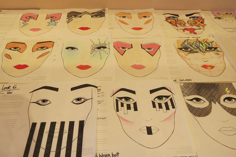 Phoenix Renata's makeup designs for the show (Photo: Imogen Crispe / 3 News)