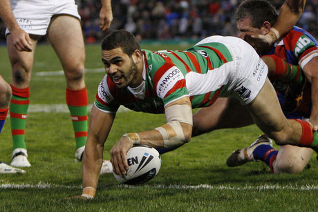 Greg Inglis scores for the Rabbitohs (AAP)