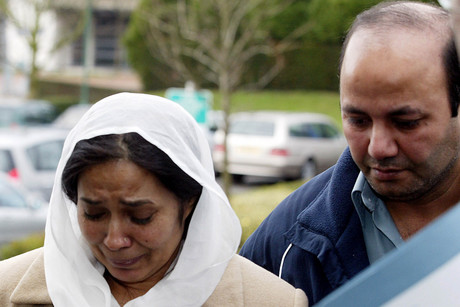 Ifitkhar (R) and Farzana Ahmed, parents of 17-year-old Shafilea Ahmed (Reuters)