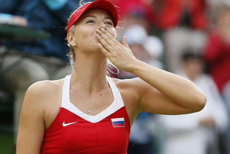 Maria Sharapova sends kisses tyo the crowd after making the final (Reuters)