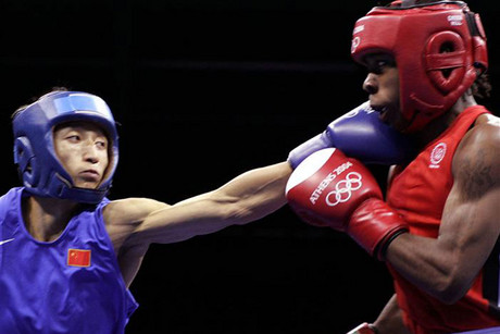 Rau'shee Warren, right, was the last US boxer knocked out of the Olympics (Reuters)
