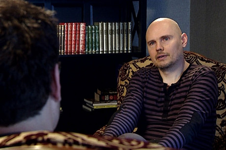 Billy Corgan talking to David Farrier